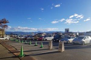Beautiful mountain view of Yamanashi