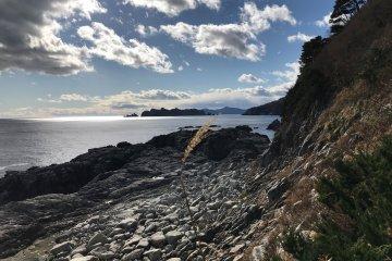 The alternative is a walk along a part of the Michinoke Coastal Trail in the Kamaishi area.