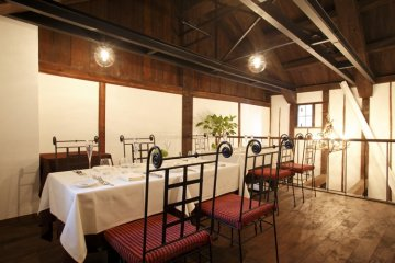 Private dining in the upstairs area of Shikemichi Restaurant