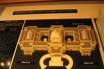 大厅里展示的议事堂模型
