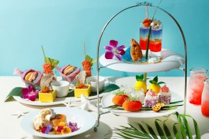 A range of Hawaiian-themed sweet and savory eats will be served at the afternoon tea
