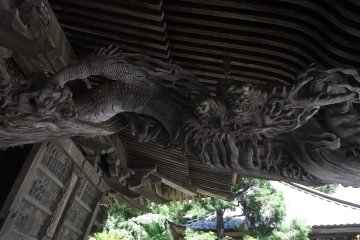 Don't annoy the dragon - it's holding the roof up!