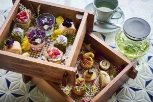 The stay includes a hydrangea afternoon tea