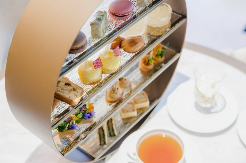 The afternoon tea incorporates various flavors (and vibrant colors!) of summer