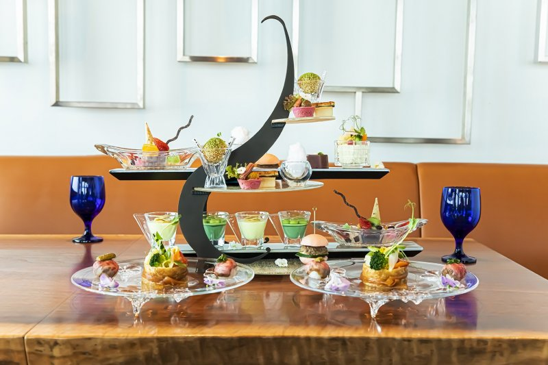 This afternoon tea event focuses on Japanese flavors