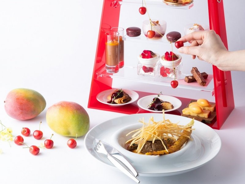 The afternoon tea event is filled with stone fruit desserts