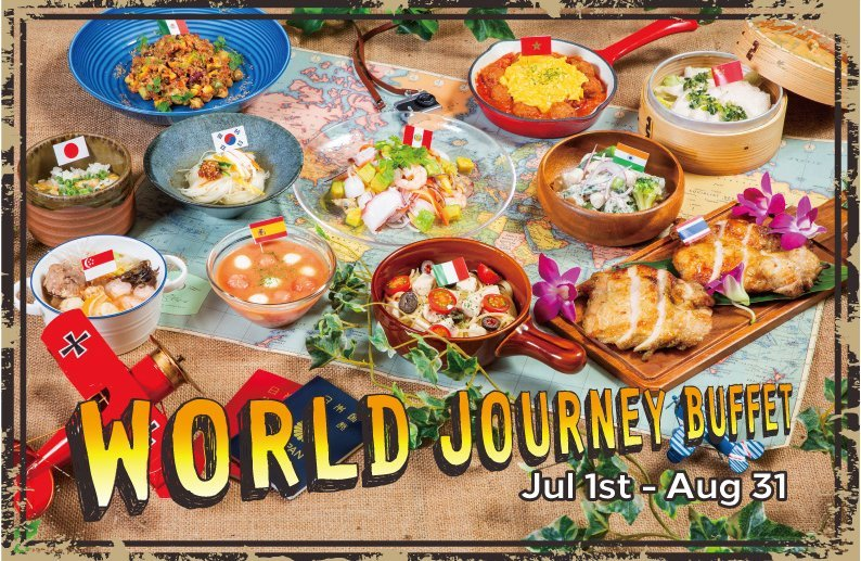 The event has a variety of dishes on offer from different corners of the globe