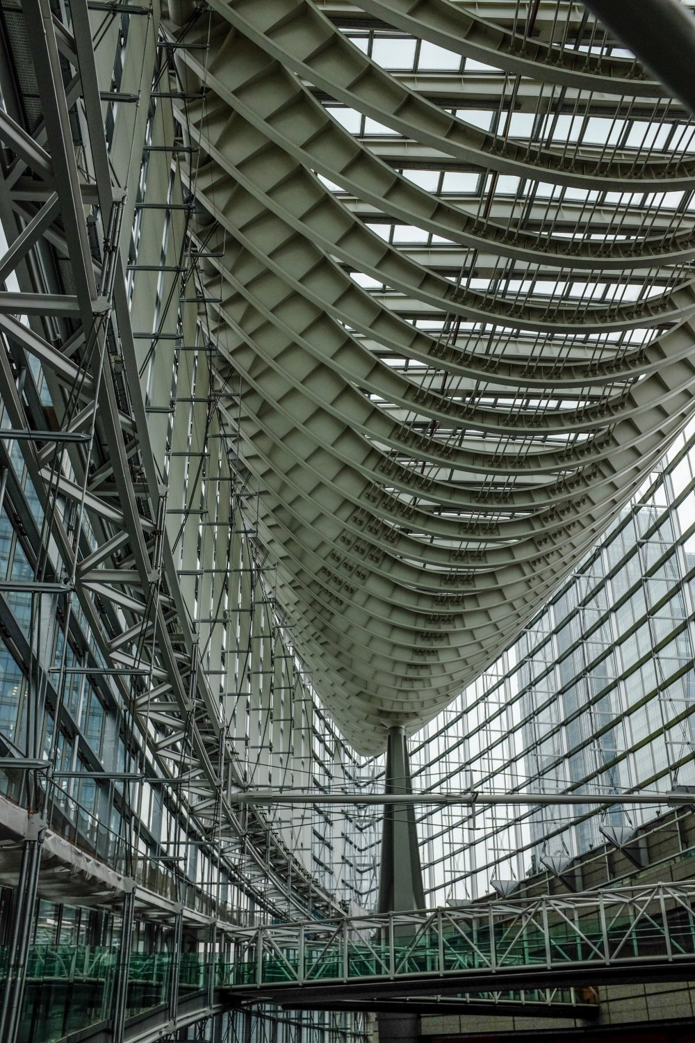The spectacular boat shaped roof is a sight to behold as you enter the building