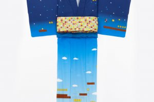 The yukata from the Kimono by Nadeshiko brand