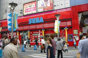 Sega Gigo is a huge game center where you'll spend a lot of time!