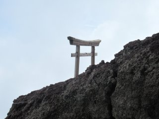 Sacred torii close to the summit