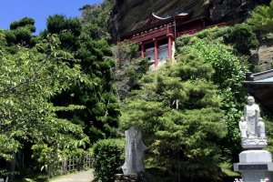 Gakke Kannon Temple on Funagata Mountain
