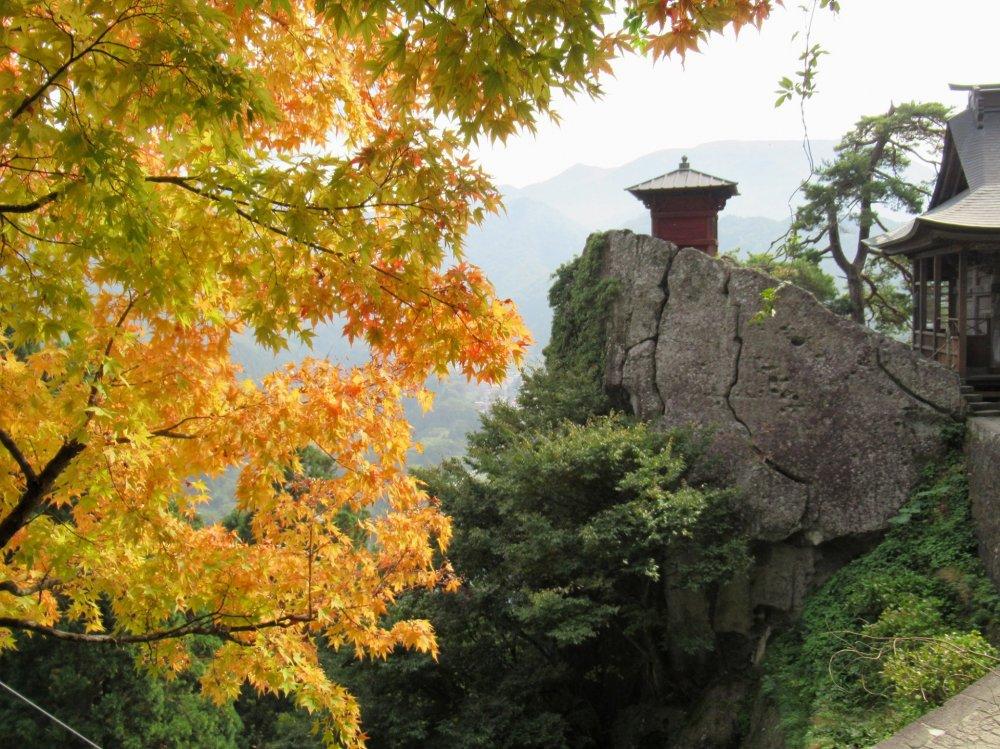Autumn at Yamadera Temple