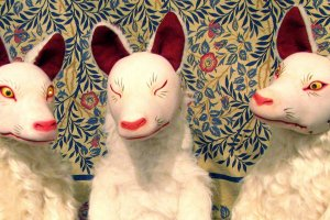 Kitsune dolls by Japanese artist, Noe