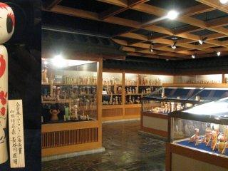 Kokeshi Doll Mini-Museum at JR Shiroishi-Zao Station