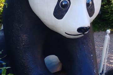 Panda statue of Styrofoam