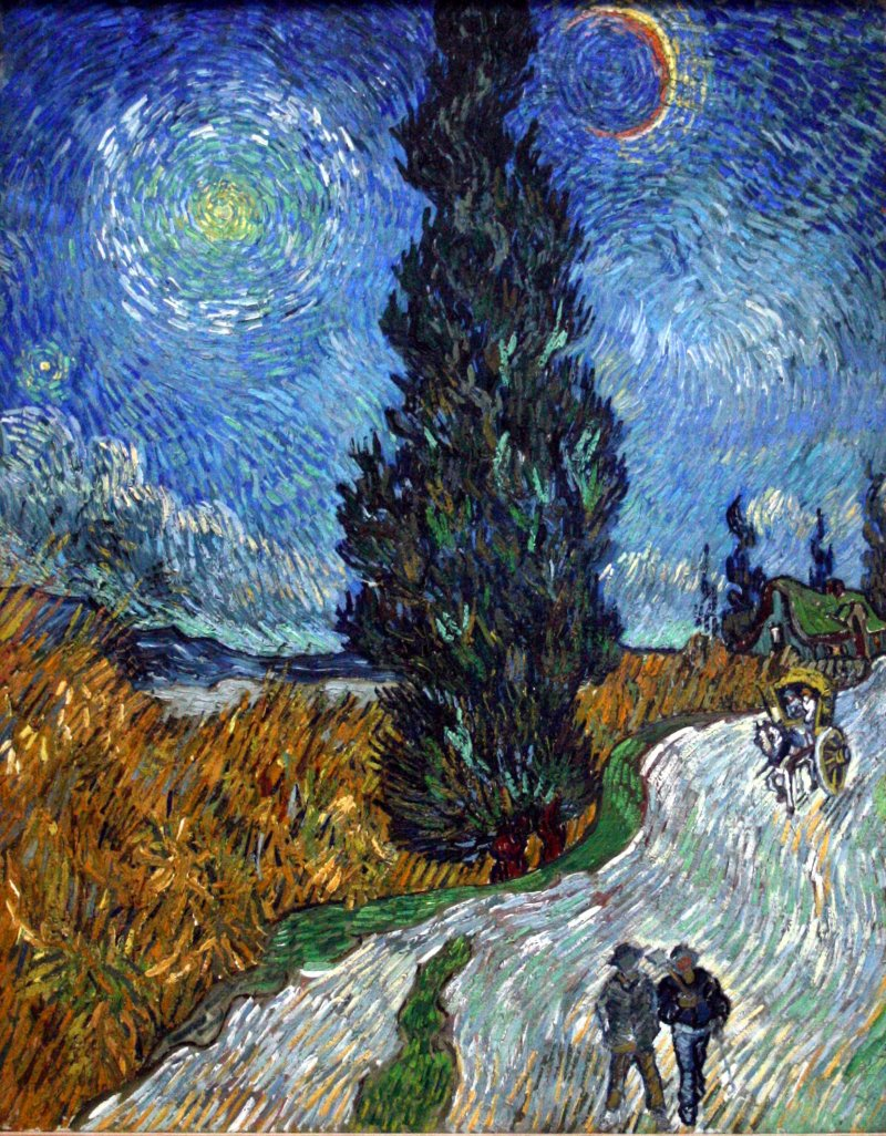 """""""Country road in Provence by night"""" is one of the Van Gogh works that will be displayed at the event"""