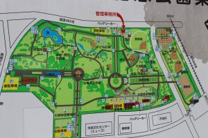 A map of the Tokorozawa Aviation Memorial Park