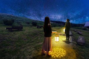 Lantern-guided walks allow visitors to appreciate Aso's nature up close