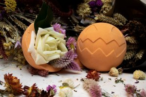 The Giant Pumpkin is only available at Lush Shinjuku, and comes filled with flower petals