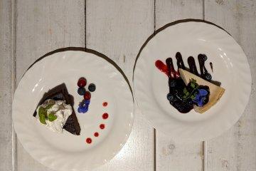 Gateau Chocolat and New York Cheesecake - fully vegan!