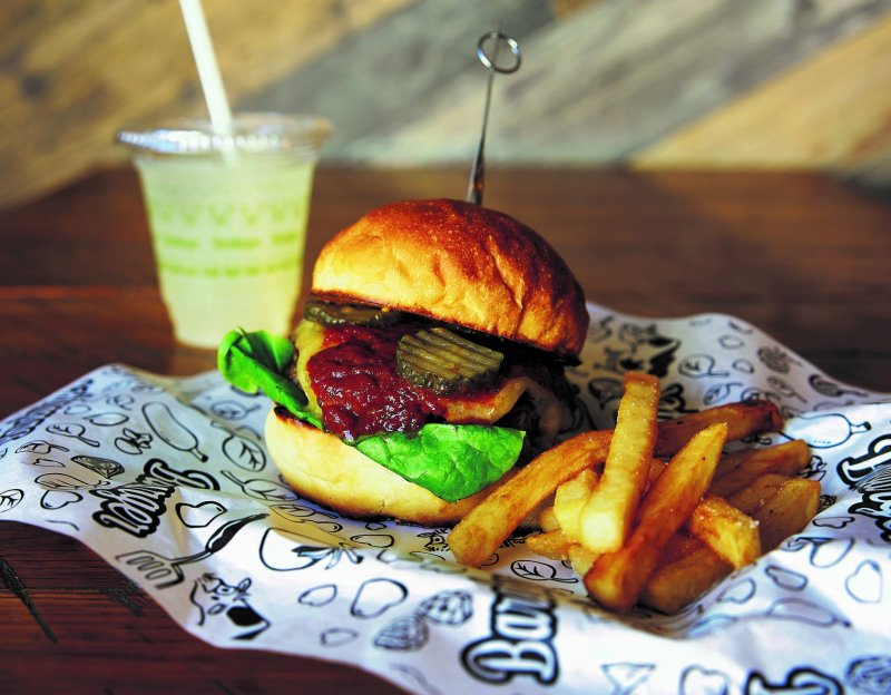 Burgers, chicken and waffles, and decadent thick shakes are some of what's on offer