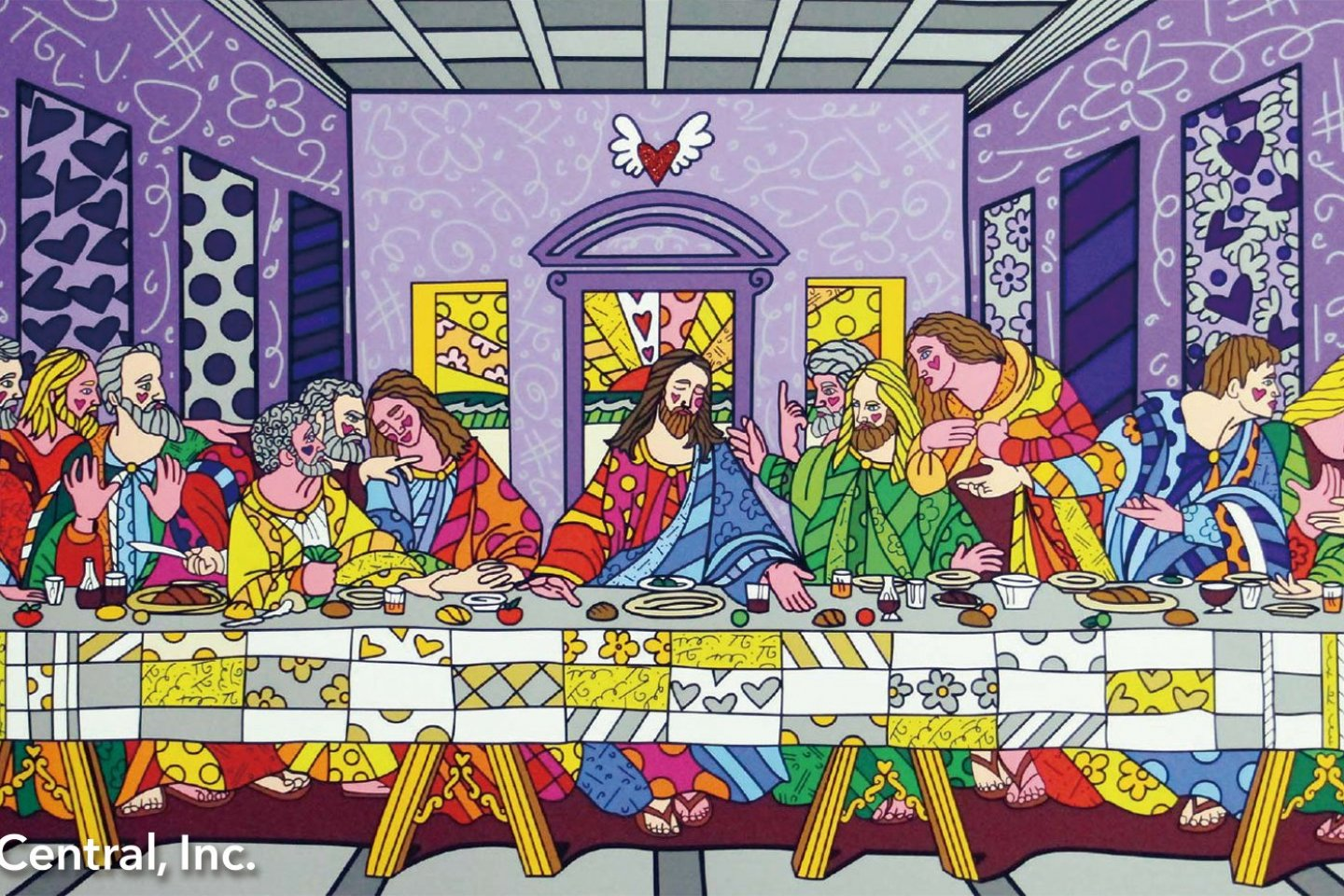 Britto\'s pop art style depiction of the Last Supper