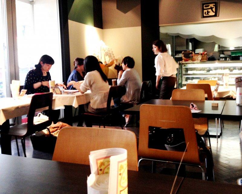 <p>Say hi to Sato san and the friendly team at Cafe de Take at Harajuku Omotesando</p>