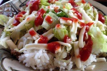 <p>Taco rice</p>