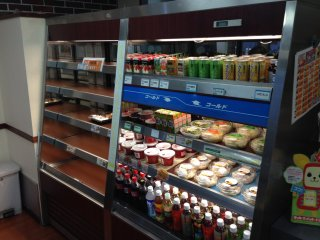 There is a large variety of beverages available to go with any freshly made meal; during the day Hotto Motto also has some pre-prepared meals in its lobby reefer for those in an extreme rush to get a meal