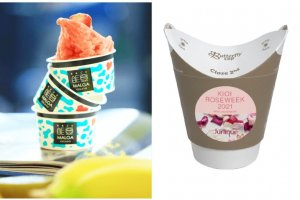 Rose gelato and rose herbal tea are a couple of the rose-flavored options