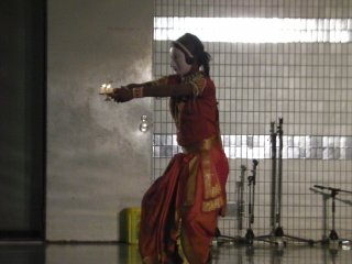 A theatrical performance of Indian gods