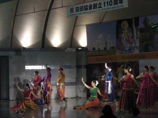 A dramatic dance performance