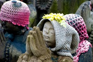 Each Jizo statue has its own individuality