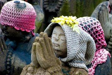 Each Jizo statue has its own individuality