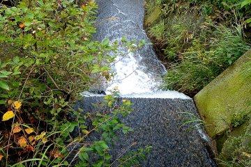 Bubbling stream near the Sessho-seki Rock