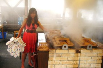 Steamy cooking area
