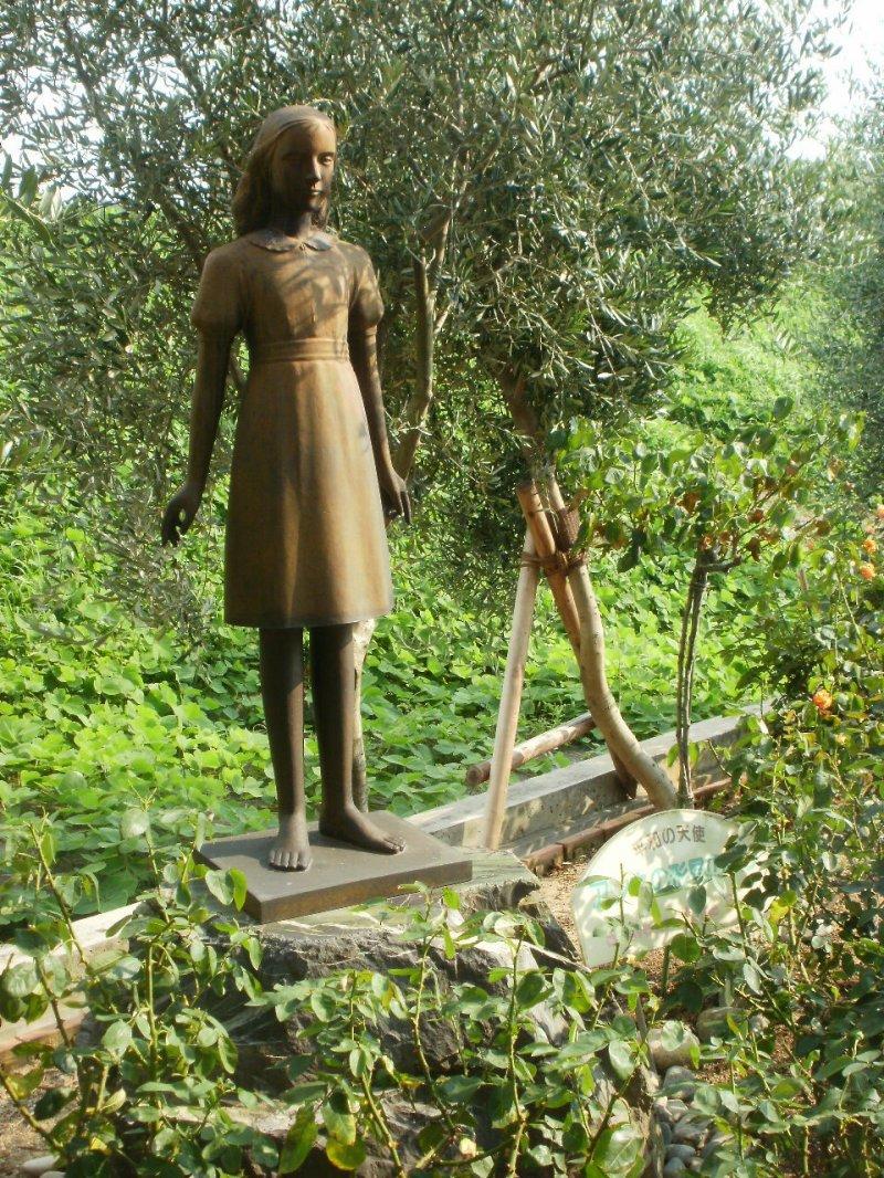 Statue of Anne Frank in Rose Garden