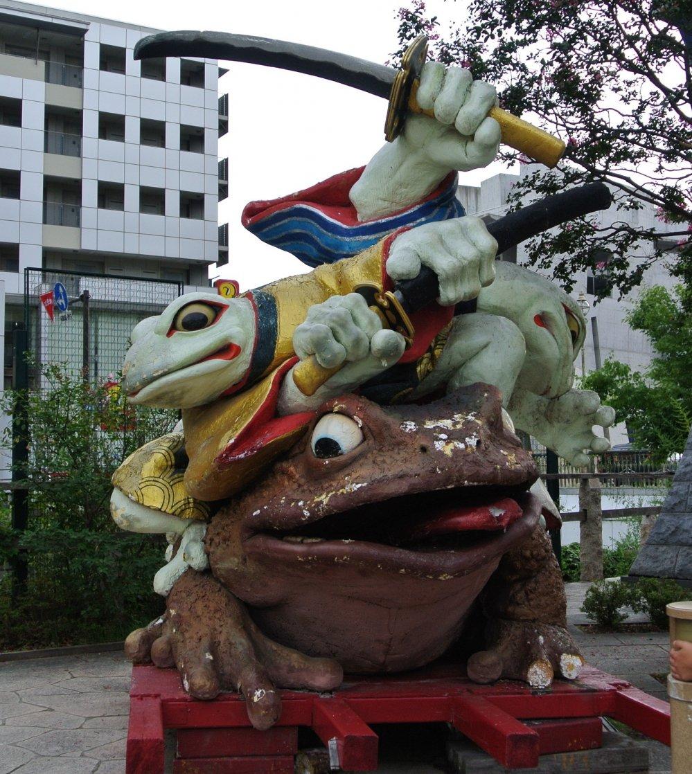 Frog statue in Matsumoto