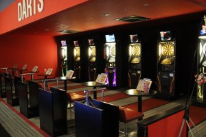 Darts are located on the second floor and on the fifth floor