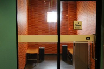 <p>There are a couple of open air terraces as well as dedicated smoking rooms that keep tobacco users away from everyone else</p>