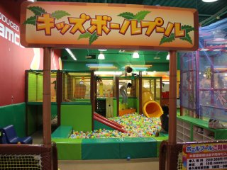 The ball pit is 300 yen for 20 minutes which isn't necessarily a bargain, but is cheaper than losing money in the skill crane games