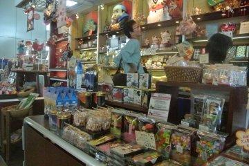 A souvenir shop on the 45th floor