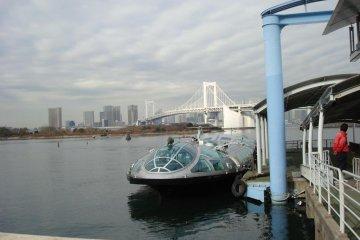 <p>Himiko docked at Odaiba Seaside Park</p>