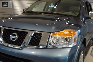 The next car that charmed me was a metallic, icy-blue Armada. The Armada is a full sized SUV. My impression is that this Armada is a tough muscular guy.