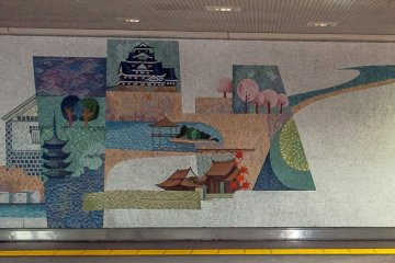 The station features the art of a few local artists in murals on its walls