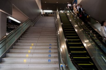 There are plenty of escalators to help out your weary legs after a long day