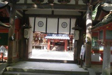 Entrance gate to Isonokami shrine