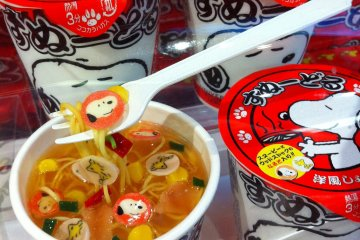 You can find one-of-a-kind souvenirs at USJ like this CupNoodle with edible Snoopy spices