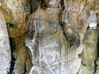 Many of the statues show signs of weathering from years of exposure